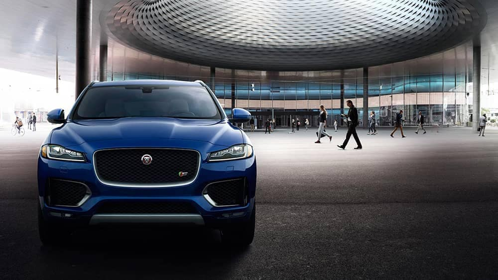 2019 Jaguar F-PACE Parked in Front of Office Building