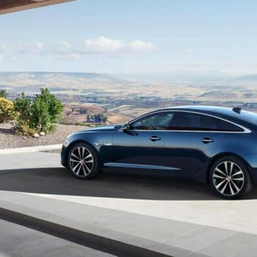 2019 Jaguar XJ Parked Outside Home
