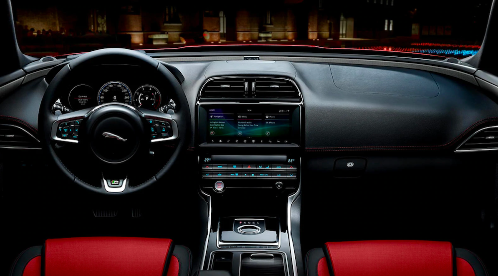 2019 jaguar xe red interior