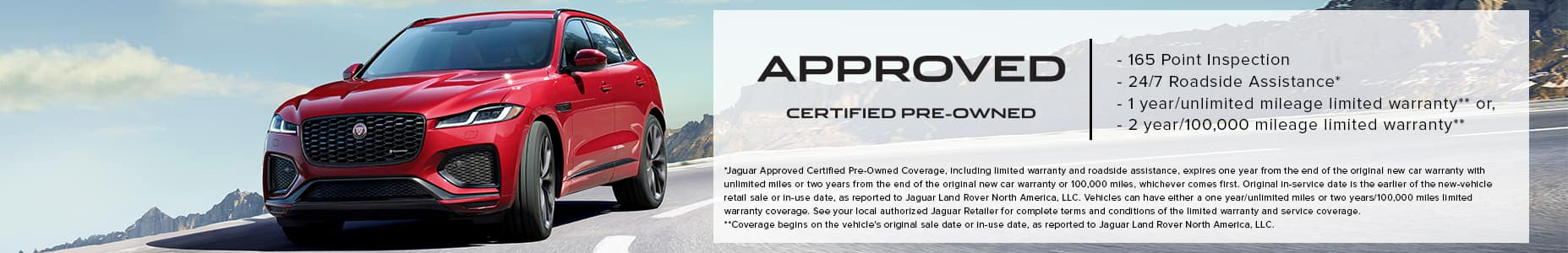 Approved Certified Pre-Owned F-PACE