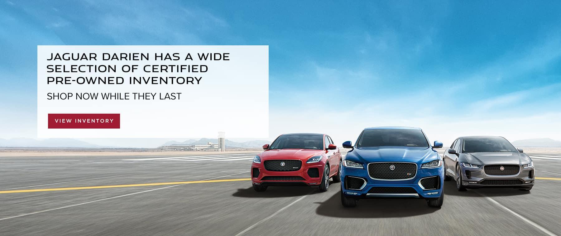 Shop Jaguar Darien's selection of certified pre-owned inventory
