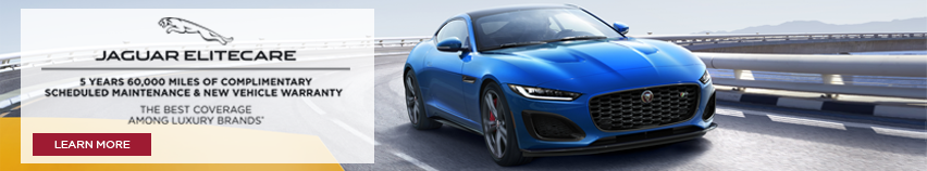 JAGUAR ELITECARE 5 YEARS 60,000 MILES OF COMPLIMENTARY SCHEDULED MAINTENANCE & NEW VEHICLE WARRANTY THE BEST COVERAGE AMONG LUXURY BRANDS