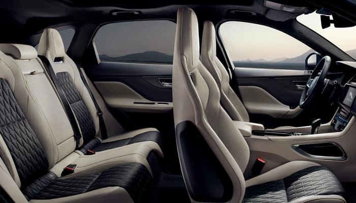 Jaguar Pace Interior >> 2019 Jaguar F Pace Interior Capacity Features Jaguar Mission Viejo