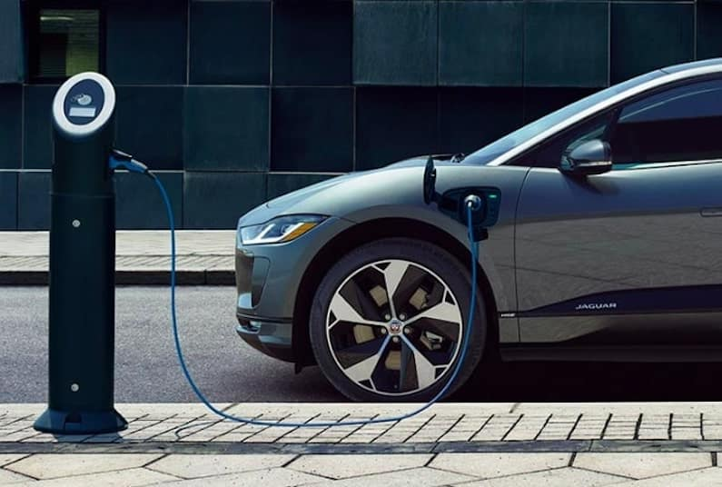 Jaguar I-PACE at Charging Station