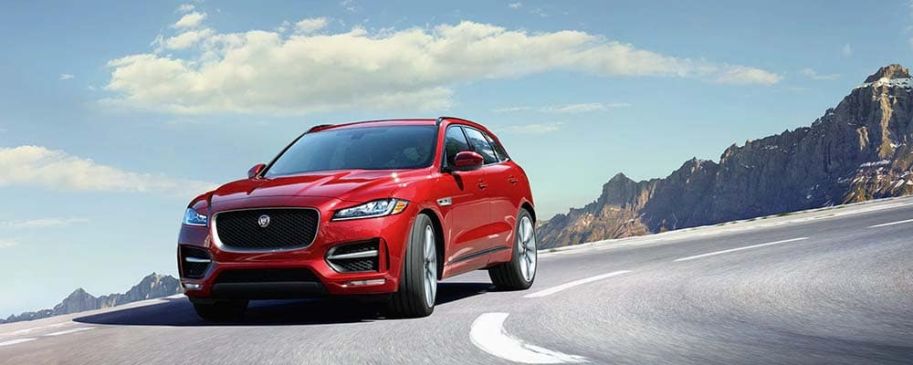 2020 F-Pace driving around curve
