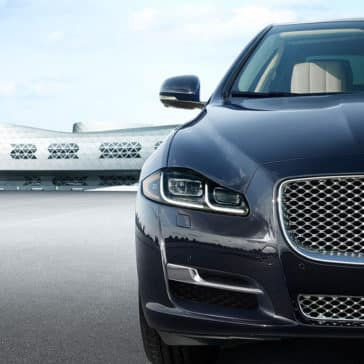2018 Jaguar XJ front exterior up close