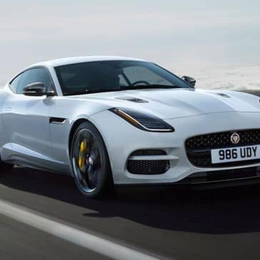 2019 Jaguar F-TYPE Yulong White with Silver Weave Carbon Fiber Package