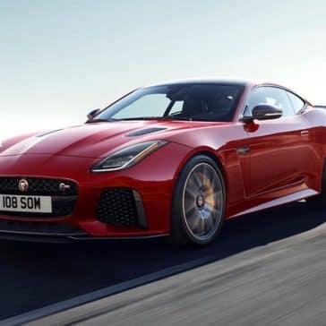2019 Jaguar F-TYPE SVR Caldera Red Driving