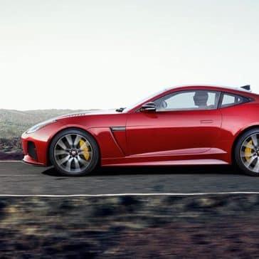 2019 Jaguar F-TYPE SVR Caldera Red Side Profile