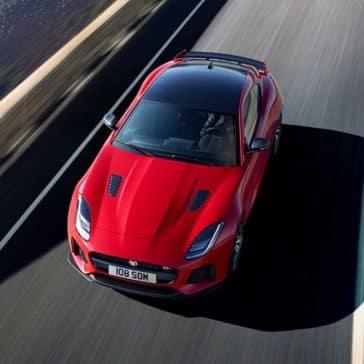 2019 Jaguar F-TYPE SVR Caldera Red Driving Top View