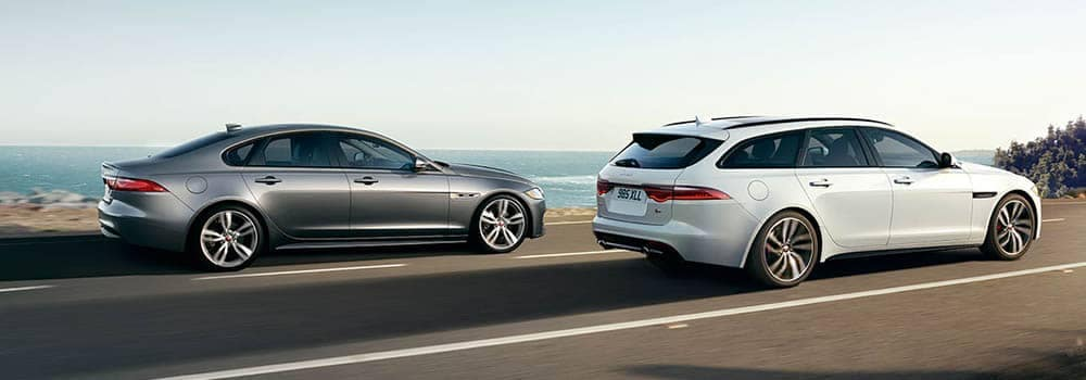 Jaguar XF Models Driving