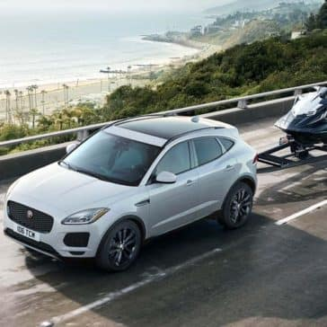 2019 Jaguar E-PACE Towing a Trailer with a Wave Runner