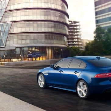 2019 Jaguar XE Driving Through the City