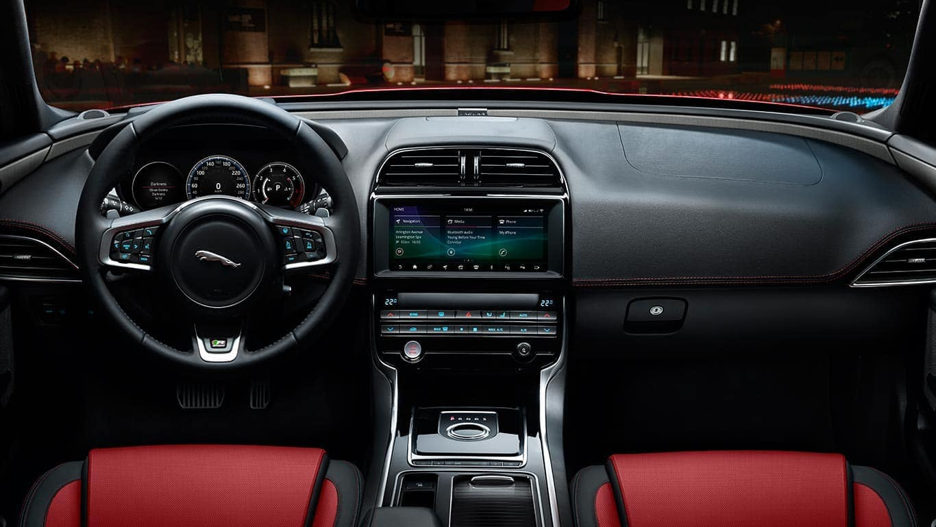 2019 Jaguar XE Interior Front Seating and Dashboard Features