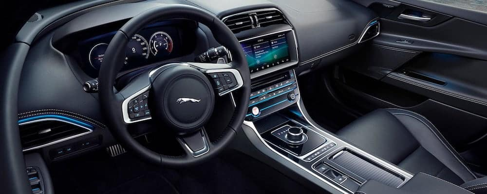 2019 Jaguar XE interior with view of dashboard