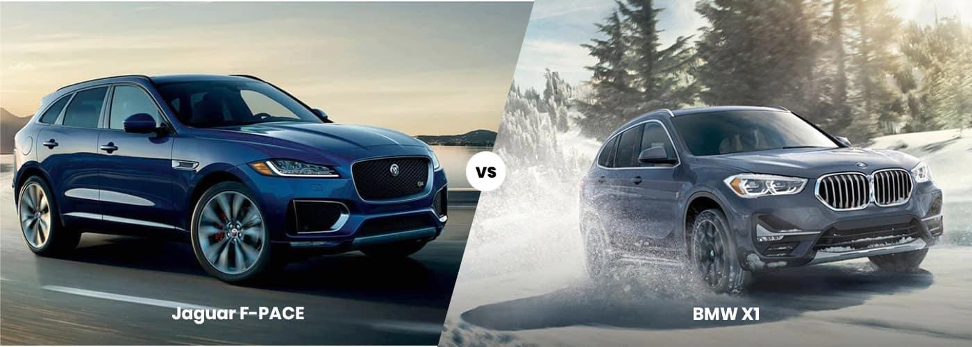 jaguar f-pace vs bmw x1