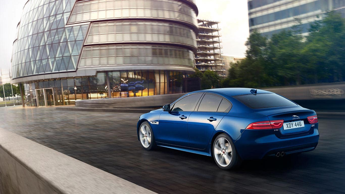 2018 Jaguar XE driving in the city
