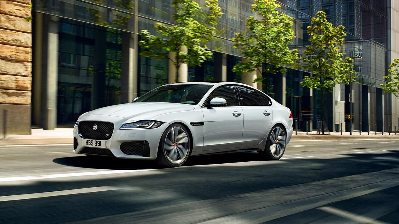 2018 Jaguar XF in the city