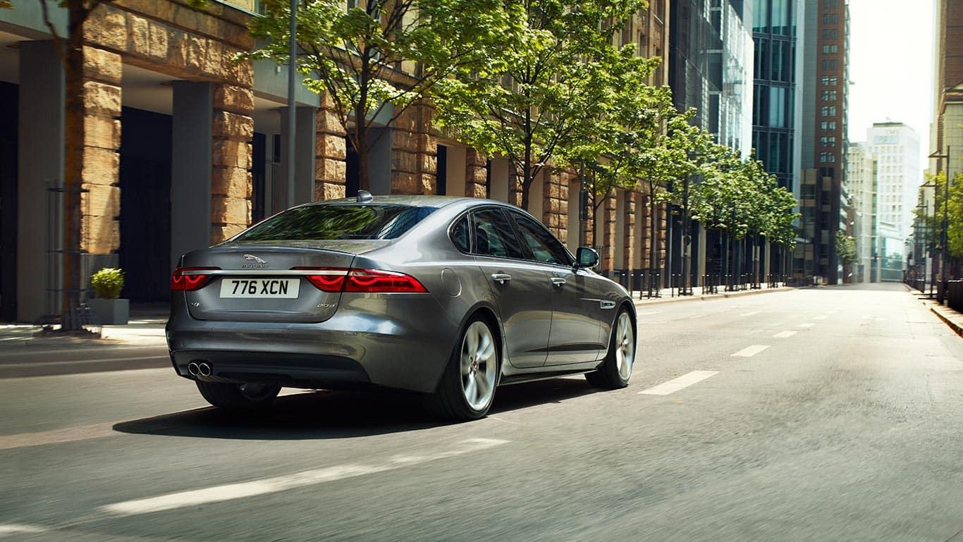 2018 Jaguar XF city driving