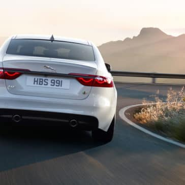 2018 Jaguar XF in the mountains