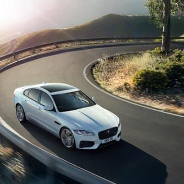2018 Jaguar XF on a hairpin turn
