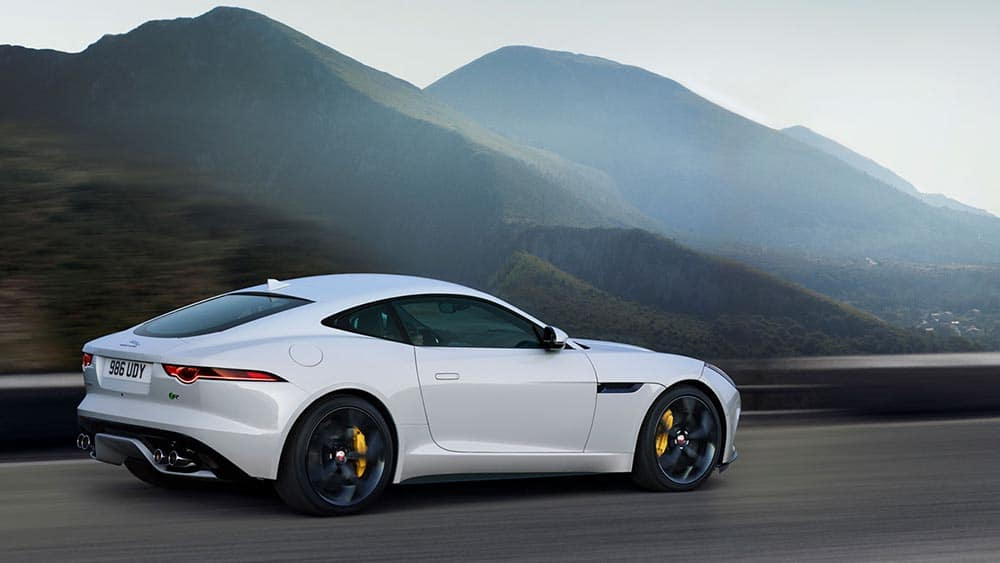 2019 Jaguar F-TYPE by the mountains