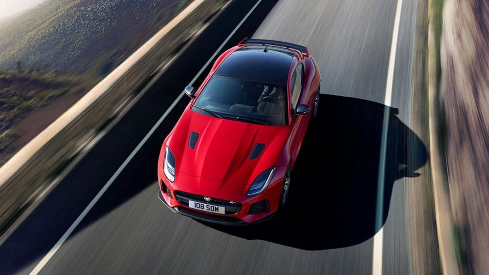 2019 Jaguar F-TYPE aerial view
