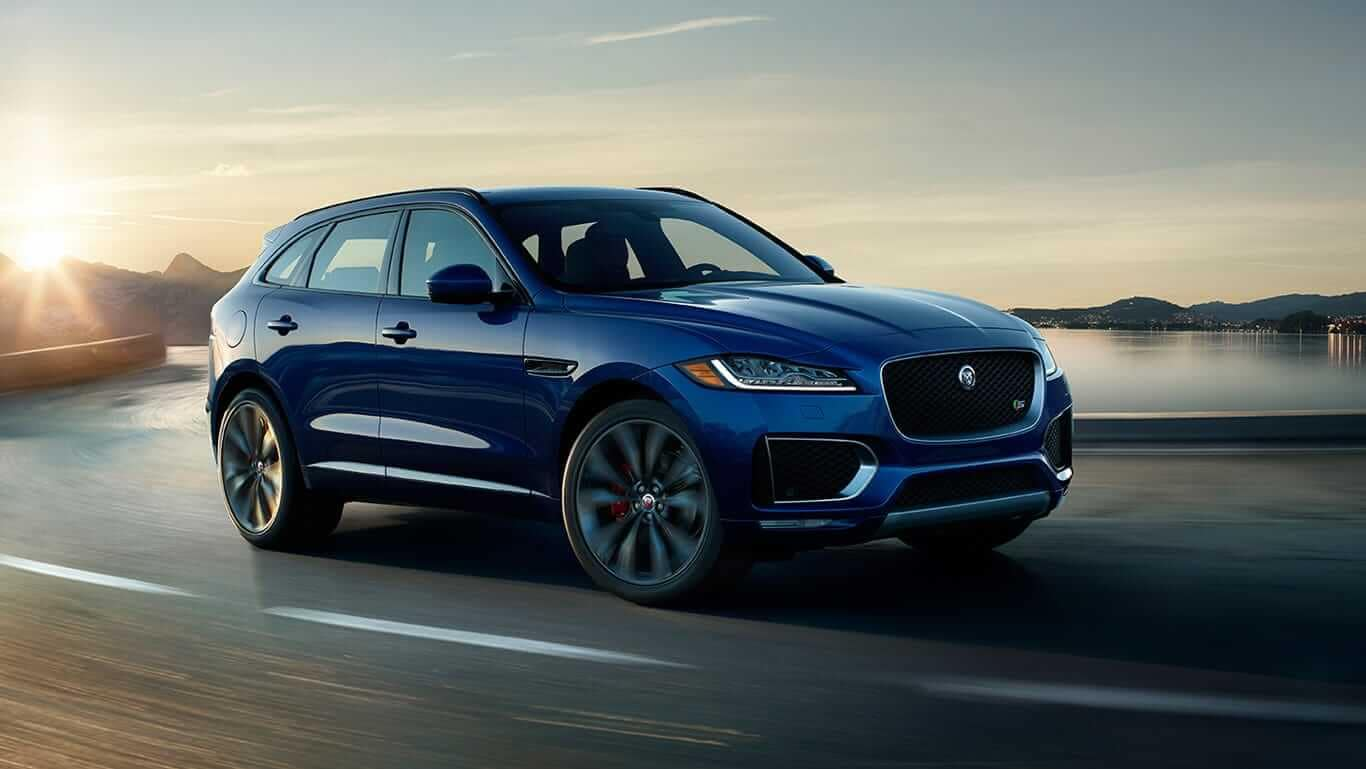2018 Jaguar F-PACE at dusk