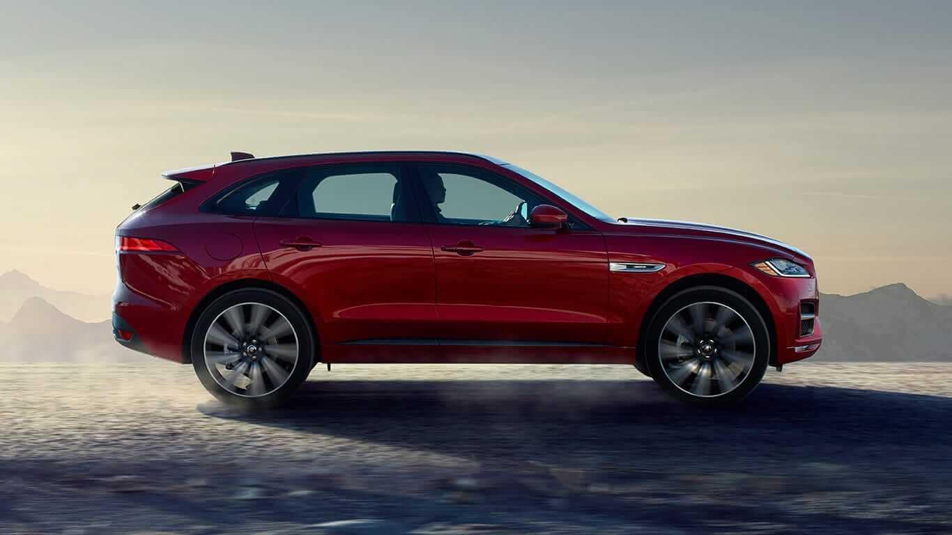 2018 Jaguar F-PACE profile view