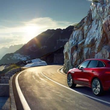 2018 Jaguar F-PACE on a mountain pass