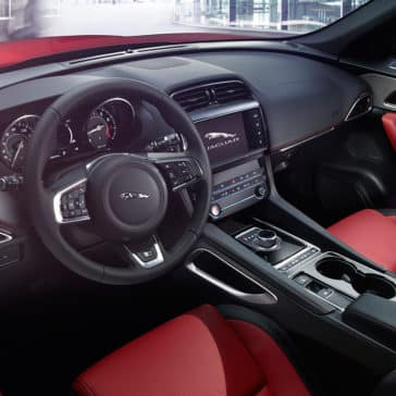 2018 Jaguar F-PACE dashboard