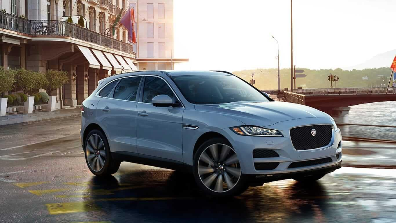 2018 Jaguar F-PACE in the city
