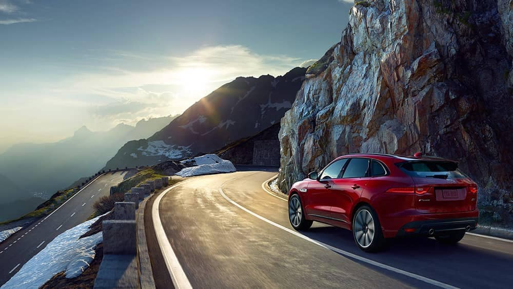2019 Jaguar F-PACE on a mountain pass