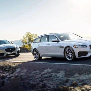 2020 Jaguar XF Pair Driving