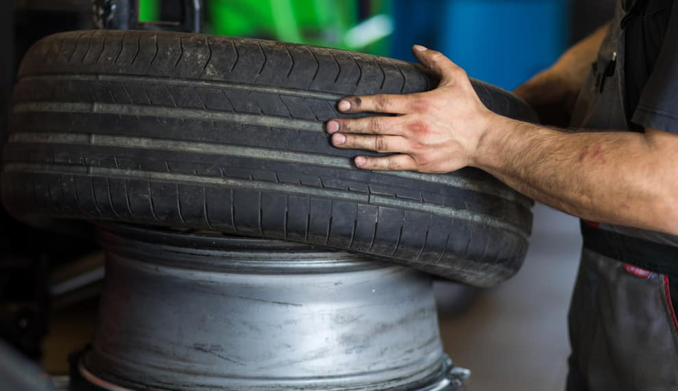 Tire change - wheel balancing or repair and change car tire