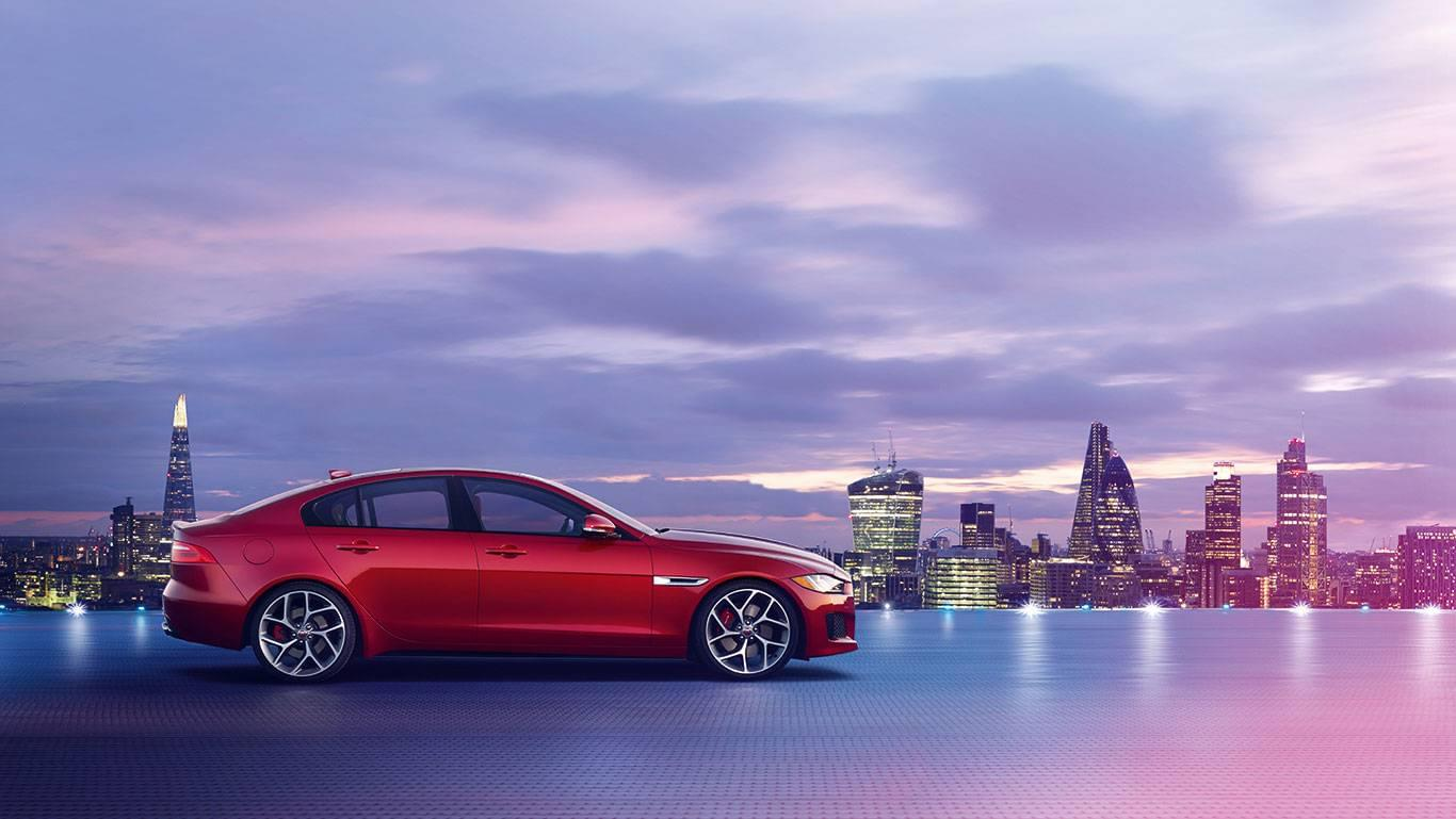 2018 Jaguar XE side view