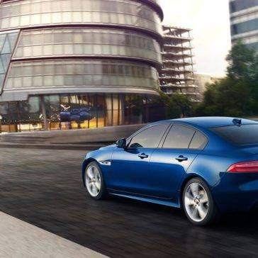 2018 Jaguar XE blue exterior