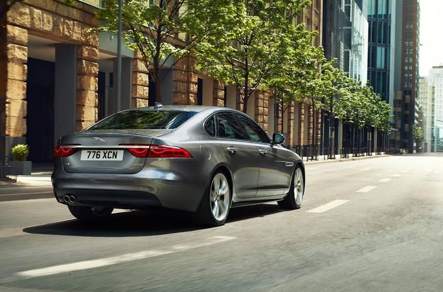 2018 Jaguar XF rear view