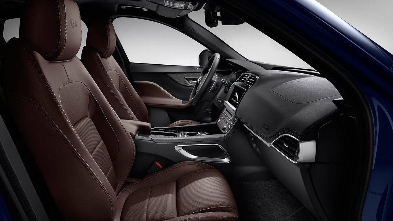 2018 Jaguar F-PACE front interior seating