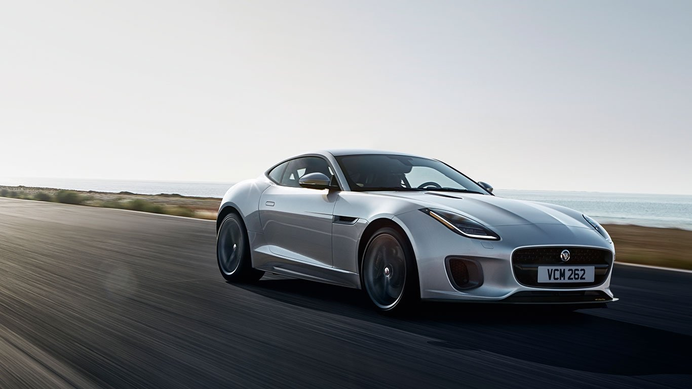 2018 Jaguar F-TYPE white exterior