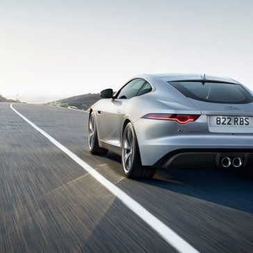 2018 Jaguar F-TYPE rear view