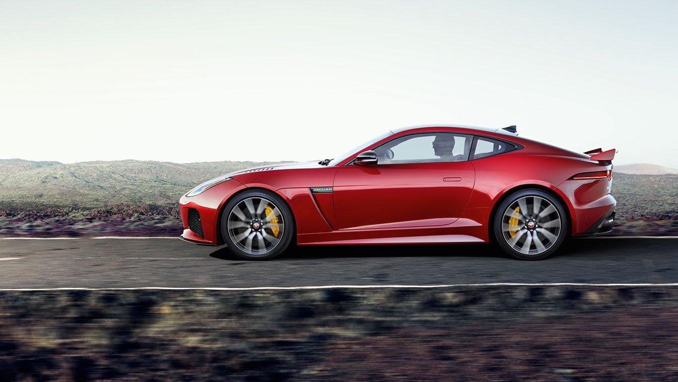 2018 Jaguar F-TYPE side view