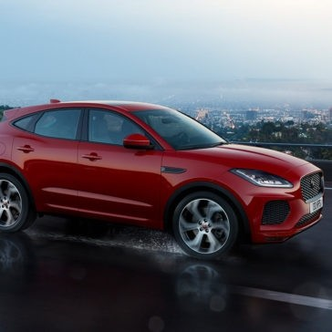 2018 Jaguar E-PACE red exterior