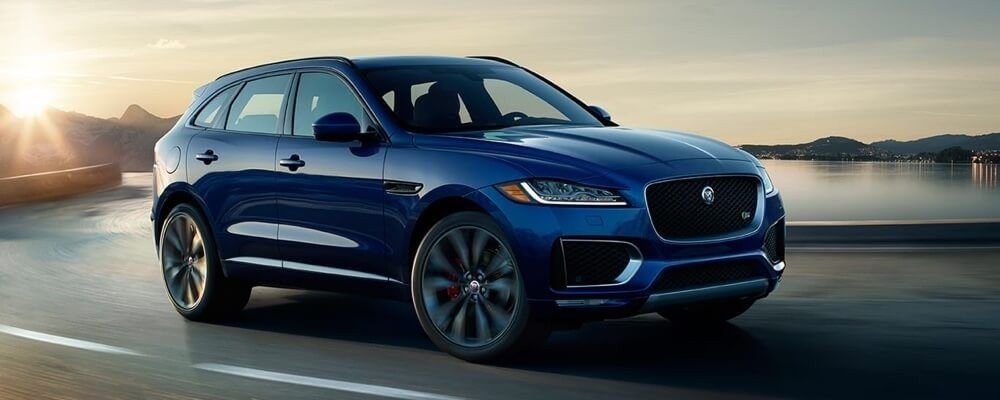 2018 Jaguar F-PACE blue exterior model