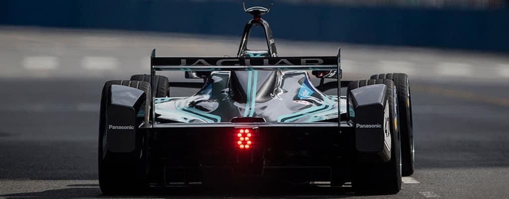 Jaguar Racecar On Track