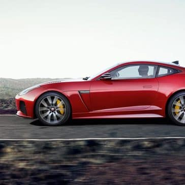 2019 Jaguar F-TYPE SVR in Caldera Red Side Profile