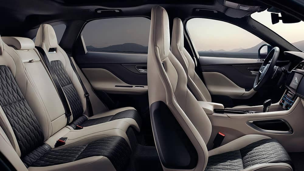 2019 Jaguar F-PACE interior seating