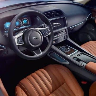 2019 Jaguar F-PACE front interior features