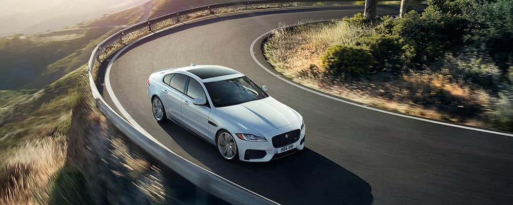 jaguar xf exterior driving