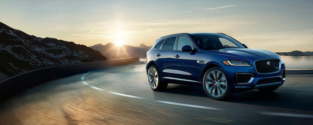 2019 jaguar f-pace on road